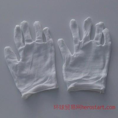 劳保防护作业交警白手套弹性军训拉架白色全纯棉礼仪手套