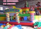 郑州充气城堡厂120平方经典熊出没充气滑梯聚童游乐设备