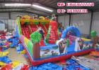 郑州儿童充气城堡厂100平方新款熊出没充气滑梯价格
