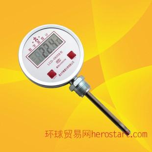 数显双金属温度计/数字温度计/工业农业温度计径向数显不锈钢