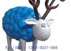 现货玻璃钢肖恩羊雕塑 厂家批发玻璃钢羊雕塑 树脂景观小品雕塑