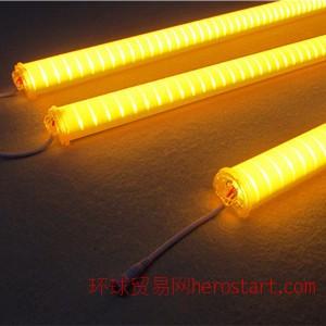 单黄光LED护栏管 单色数码管 2835高光60珠 外墙线条灯固保2年
