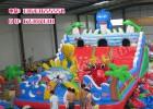 郑州充气城堡厂生产70平方海底世界充气滑梯价格