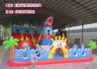 郑州充气城堡专业生产厂家160平方鲨鱼充气滑梯