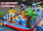 户外儿童充气城堡气模玩具72平方鲨鱼充气大滑梯