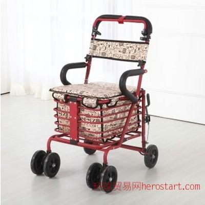 老人购物助行车 超市购物车 购物推车 助行器