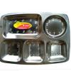 厂家直销凯迪克不锈钢大圆五格快餐盘,质量可靠。欢迎选购