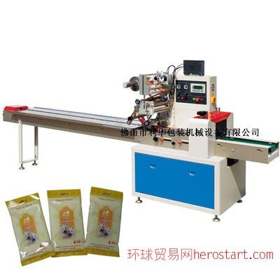 LH-360打孔贴标湿纸包装机 全自动湿纸巾包装机