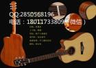 41寸缺角民谣木吉他电箱琴单板吉它手工品牌