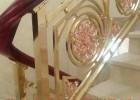 欧式别墅大堂专用大气铝雕郁金香镀玫瑰金楼梯护栏