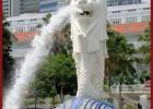 鱼尾狮定做 石材鱼尾狮 石雕动物喷水造型
