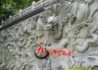 景区仿古建筑浮雕墙 动物人物青石浮雕图案