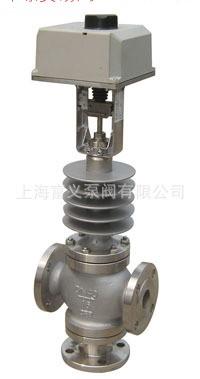 三通分流调节阀 电动三通合流 碳钢材质 上海