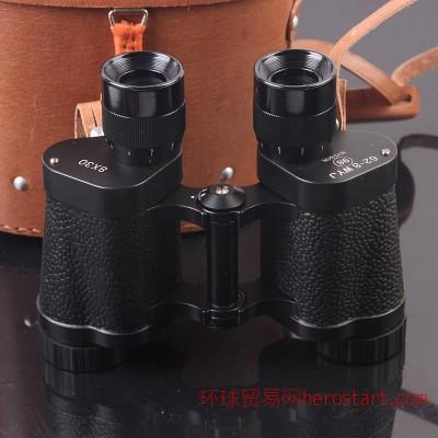 62式8x30全金属双筒望远镜 高清高倍 微光夜视 带牛皮套
