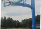 方管固定篮球架(配钢化玻璃蓝球板)