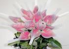 厂家批发定制玫瑰花保护网套小号塑料网套 鲜花保护网套