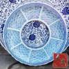 景德镇陶瓷盘子 手绘陶瓷盘定制 酒店海鲜大盘批发
