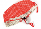 厂家全自动伞小圆点波浪花边伞三折自开收伞晴雨伞韩式公主晴雨伞