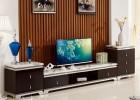 简约时尚经典客厅家具钢化玻璃桌面大理石台面不锈钢电视柜A38