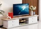现代简约客厅家具钢化玻璃大理石台面烤漆不锈钢电视柜A768