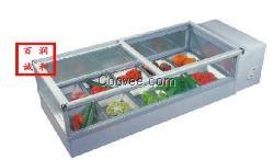 现货销售点菜柜,冷藏柜,蔬菜展示柜