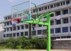 A型地埋方管篮球架QR2010-温州篮球架-强锐体育