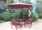 实木野餐桌椅,广场休闲桌椅