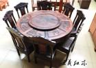 大红酸枝餐桌九件套 原木实图 餐厅家具细节图 山东王义红木