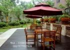 室外实木套椅,广场休闲桌椅,防腐木桌椅