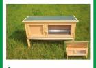 手工制作的木制兔棚