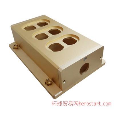 发烧友六孔电源插座 铝合金插座五金配件特价可定制