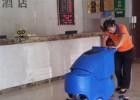 梅雨天酒店大堂地面快速清洁就用洗地机