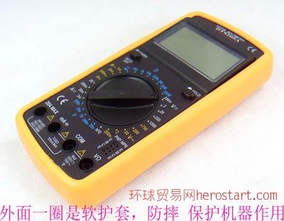 DT9205A数字万用表万能表电压表电流表蜂鸣通断大屏 防烧自动关机