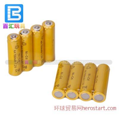 镍镉AA700MAH毫安 1.2V五5号充电电池 电动/遥控玩具电池