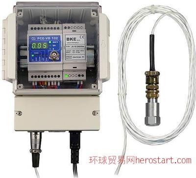 德国测振仪PCE-VB 102监控振动速度由设置的振动极限值和单位