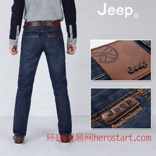 专柜品质秋冬厚款商务男牛仔裤 牛仔裤男 宽松男式牛仔裤 有大码