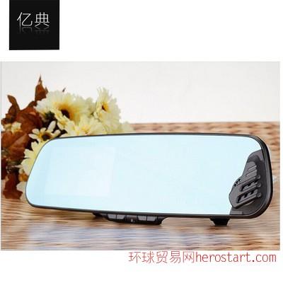 行车记录仪 Q6004.3寸后视镜双镜头1080P高清广角夜视