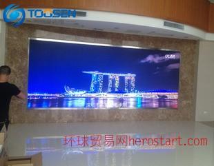 P4室内LED电子屏 医院墙面全彩显示屏 高清LED电视幕墙