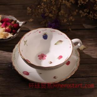 Grace Luxury骨瓷咖啡杯碟 下午茶杯碟 水果新款