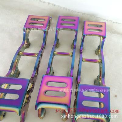 深圳真空镀厂 五金电镀加工彩色 不锈钢PVD真空电镀炫彩色 七彩色