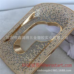 车饰配件镶钻电镀黄金 厚金表面处理 贵金属加