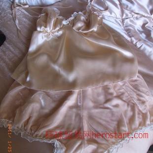 刘美人2014秋冬新款高端精品韩国版肉粉色真丝绒睡衣两件套套装女