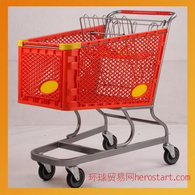 超市塑料购物车 进口购物车 新款商超购物车 商场购物车
