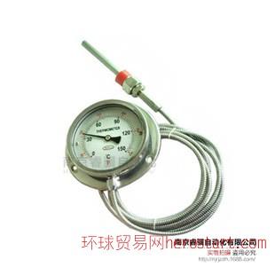 全不锈钢压力式温度计 毛细管 工业温度计