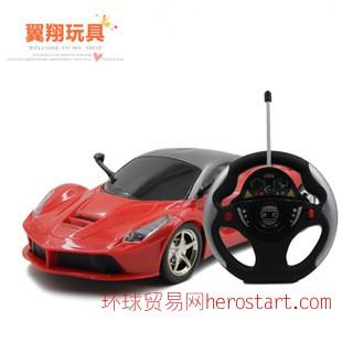 遥控儿童玩具 1:14方向盘遥控车 重力感应悬空操作 带灯玩具