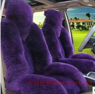 冬季羊毛坐垫厂家  高低毛仿毛坐垫 汽车内饰用品首选福旺