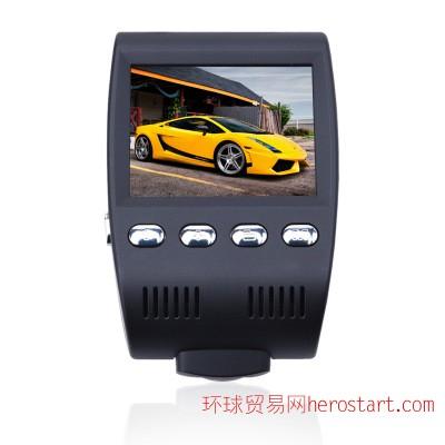 汽车车载记录仪旋转式摄像头前后纪录高清夜视记录仪170度纪录