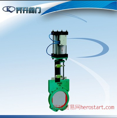 气动浆刀型液阀Z673X-10 对夹式铸铁DN250 硬密封型闸阀