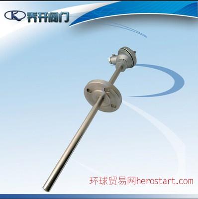上海自动化仪表三厂热电偶 铠装法兰热电偶WRNK