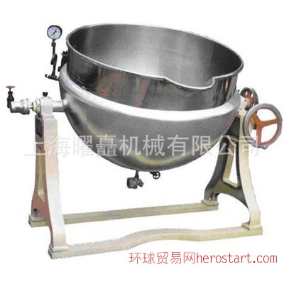 可倾式反应设备 夹层锅 蒸汽加热型 不锈钢可倾式反应锅